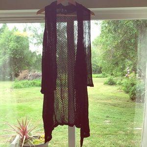 Lane Bryant Sweaters - 🔴 Lane Bryant Waterfall Style Rayon Duster Vest